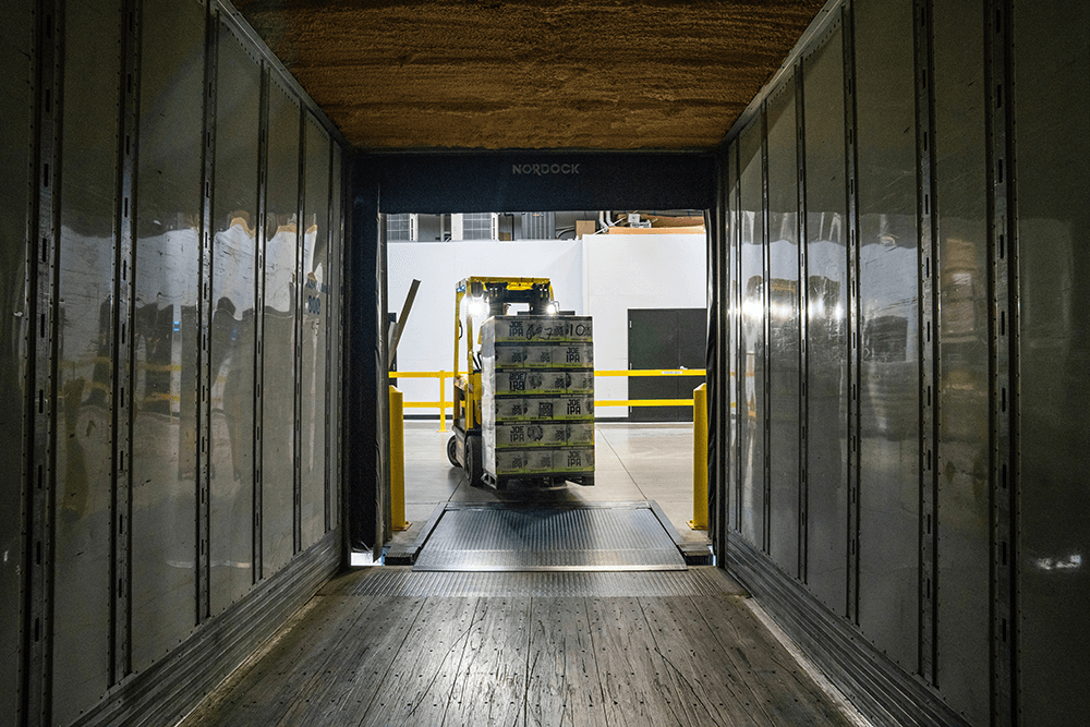 forklift loading cargo, too early for revenue recognition?